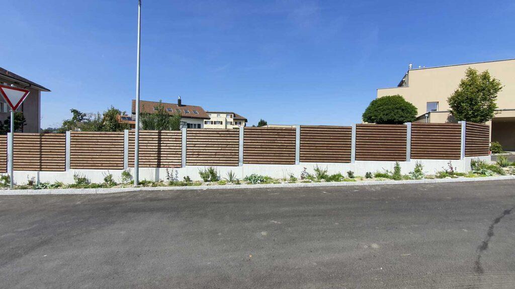 Wooddesign_Terrassengestaltung_Sichtschutz_Schallschutz_Schallschutzwand_druckimprägniert braun (2)