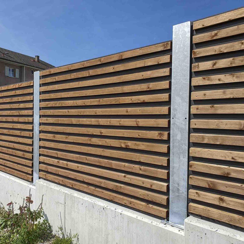 Wooddesign_Terrassengestaltung_Sichtschutz_Schallschutz_Schallschutzwand_druckimprägniert braun (3)