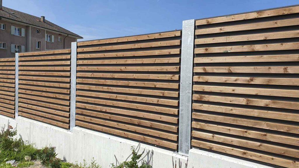 Wooddesign_Terrassengestaltung_Sichtschutz_Schallschutz_Schallschutzwand_druckimprägniert braun (4)