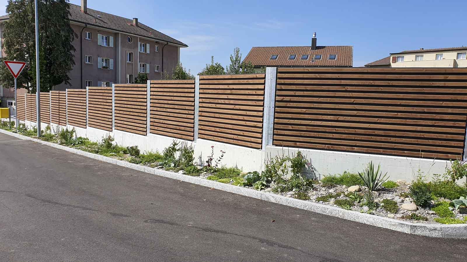 Wooddesign_Terrassengestaltung_Sichtschutz_Schallschutz_Schallschutzwand_druckimprägniert braun (5)