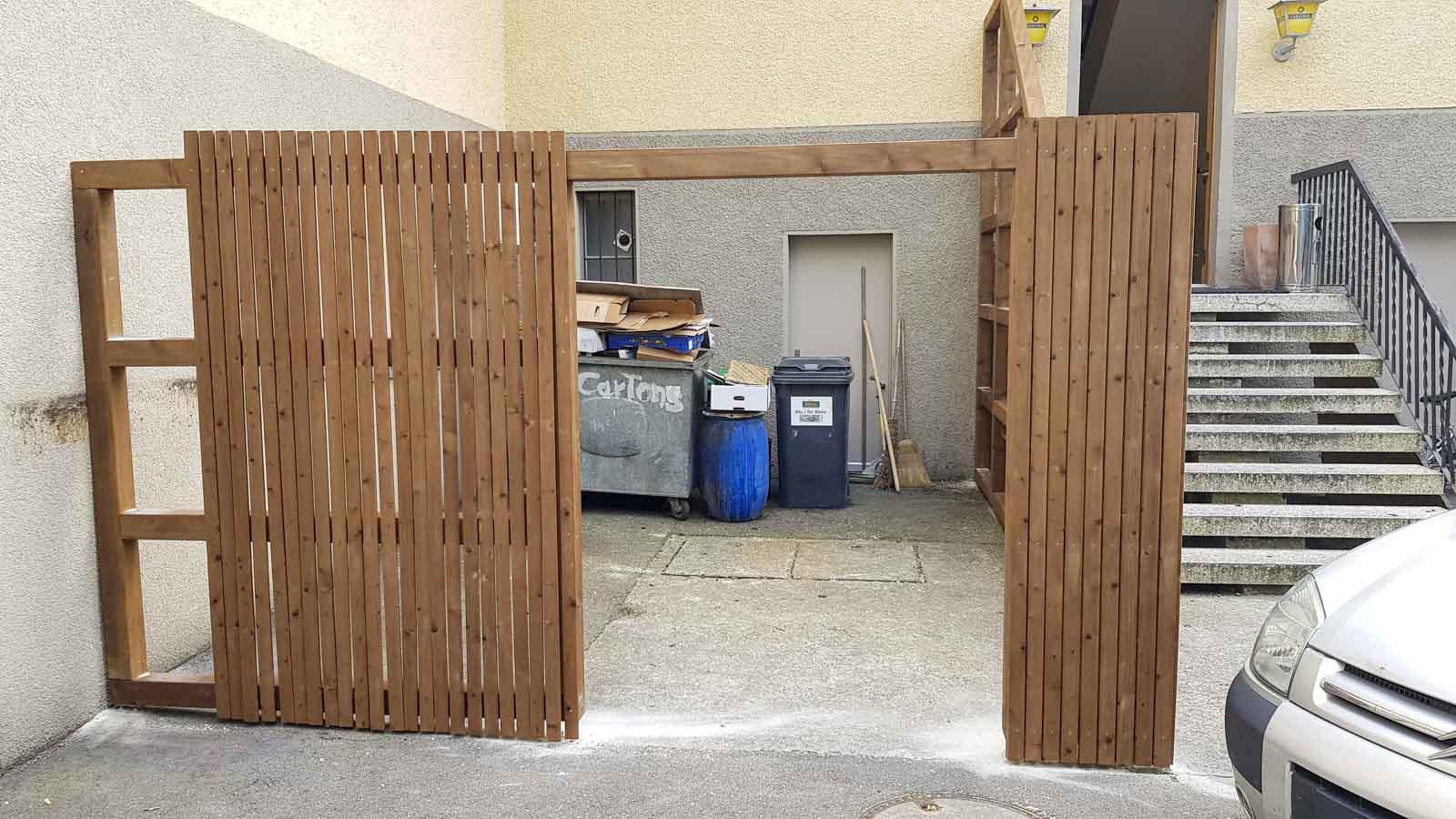 Wooddesign_Terrassengestaltung_Sichtschutz_druckimprägniert braun_Holzverkleidung (2)