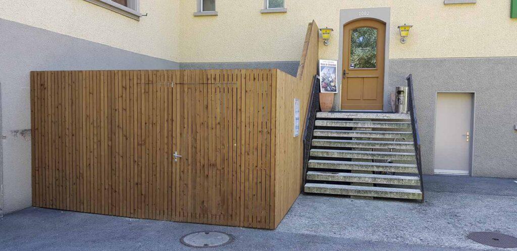 Wooddesign_Terrassengestaltung_Sichtschutz_druckimprägniert braun_Holzverkleidung (3)