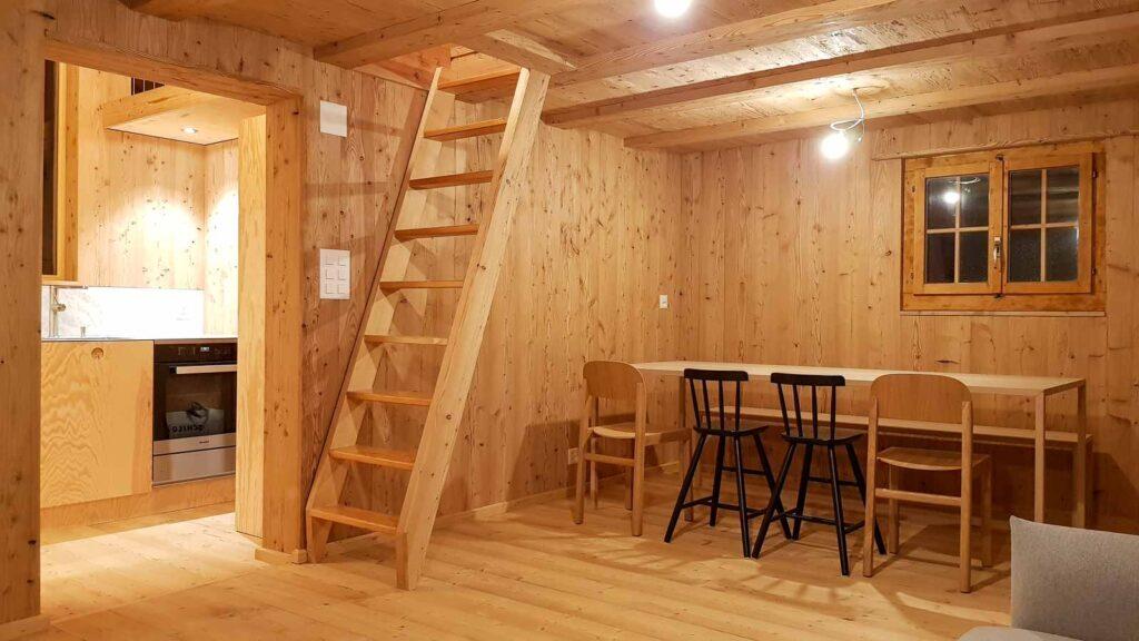 Wooddesign_Holzdesign_Innenausbau Ferienhaus_Altholz_Ferienwohnung_Ferienchalet_Schwarzsee_ Umbau (15)