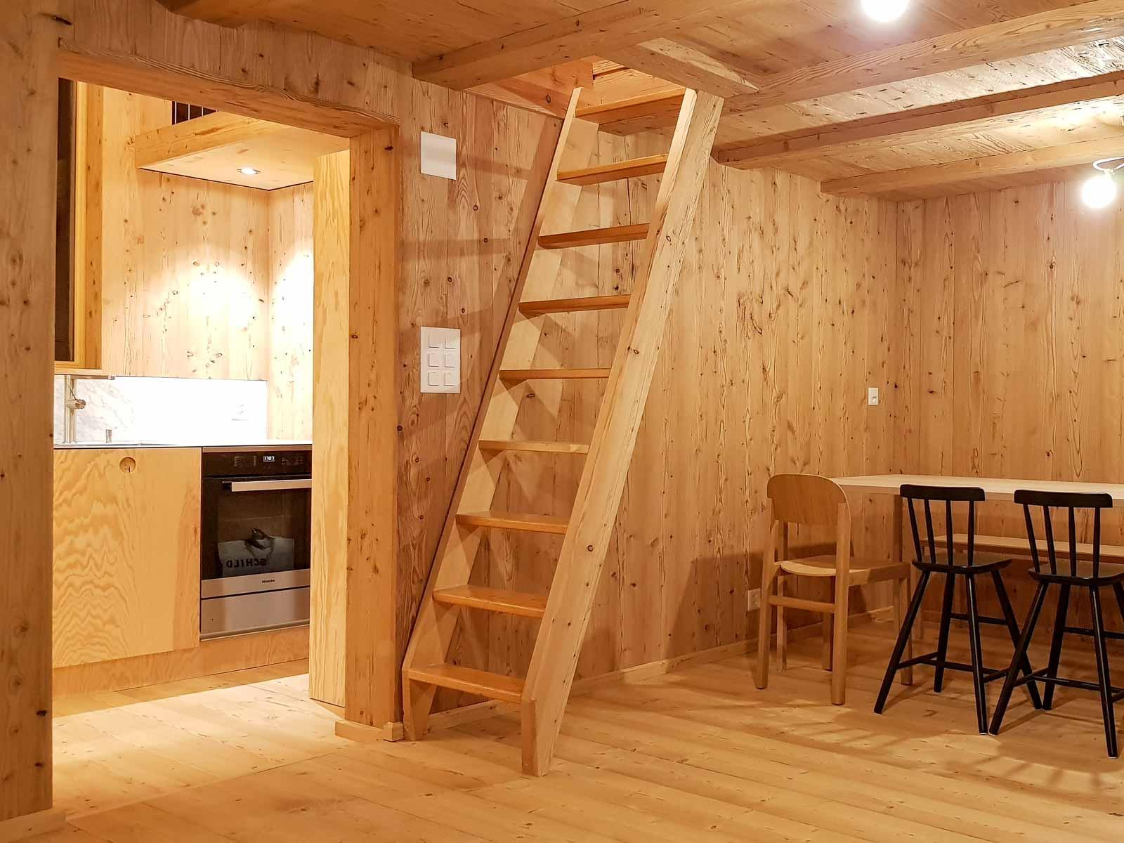 Wooddesign_Holzdesign_Innenausbau Ferienhaus_Altholz_Ferienwohnung_Ferienchalet_Schwarzsee_ Umbau (3)